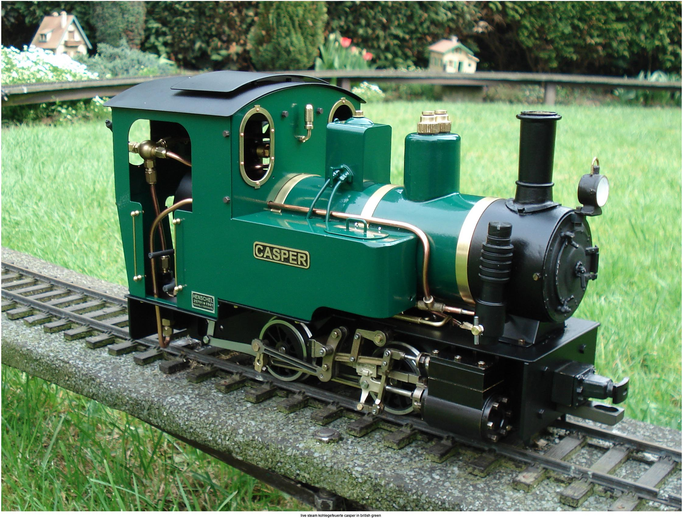 live steam kohlegefeuerte casper in british green