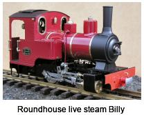 Roundhouse live steam Billy