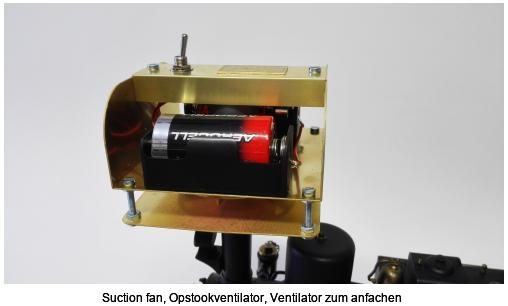 Suction fan, Opstookventilator, Ventilator zum anfachen