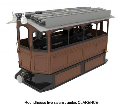 Roundhouse live steam tramloc CLARENCE
