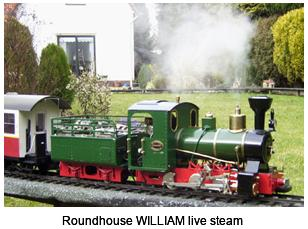 Roundhouse WILLIAM live steam